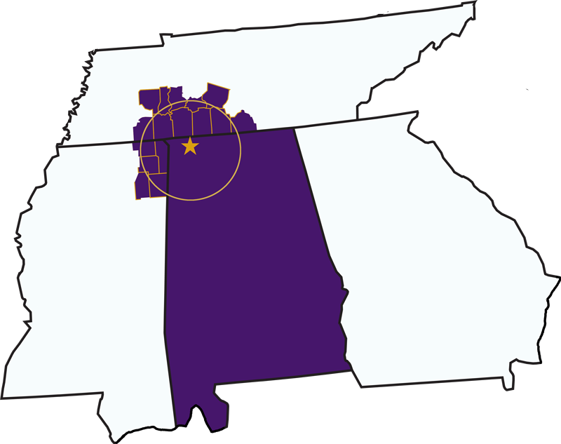 UNA - In-State Tuition Map
