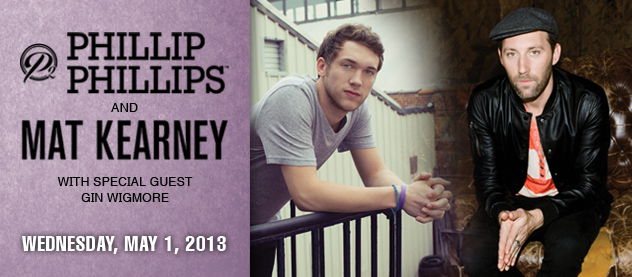 Tickets Moving Quickly for UNA Spring Concert by American Idol Winner Phillip Phillips, Hit Musician Mat Kearney