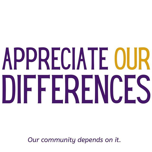 appreciate our differences graphic