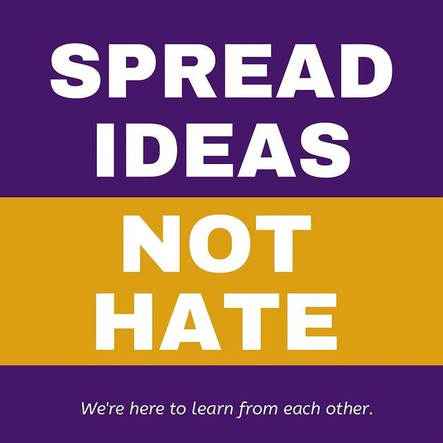 spread ideas not hate graphic