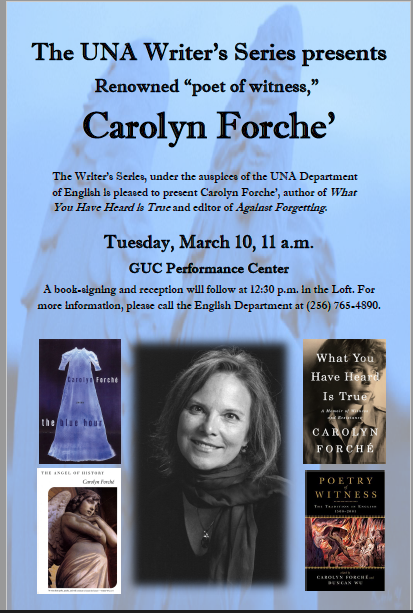 Writer's Series with Carolyn Forche'