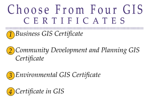 Four GIS Certificates Offered