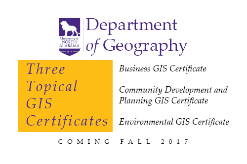 geography gis topical certificates fall offered department welcome