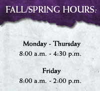 Fall and Spring Hours