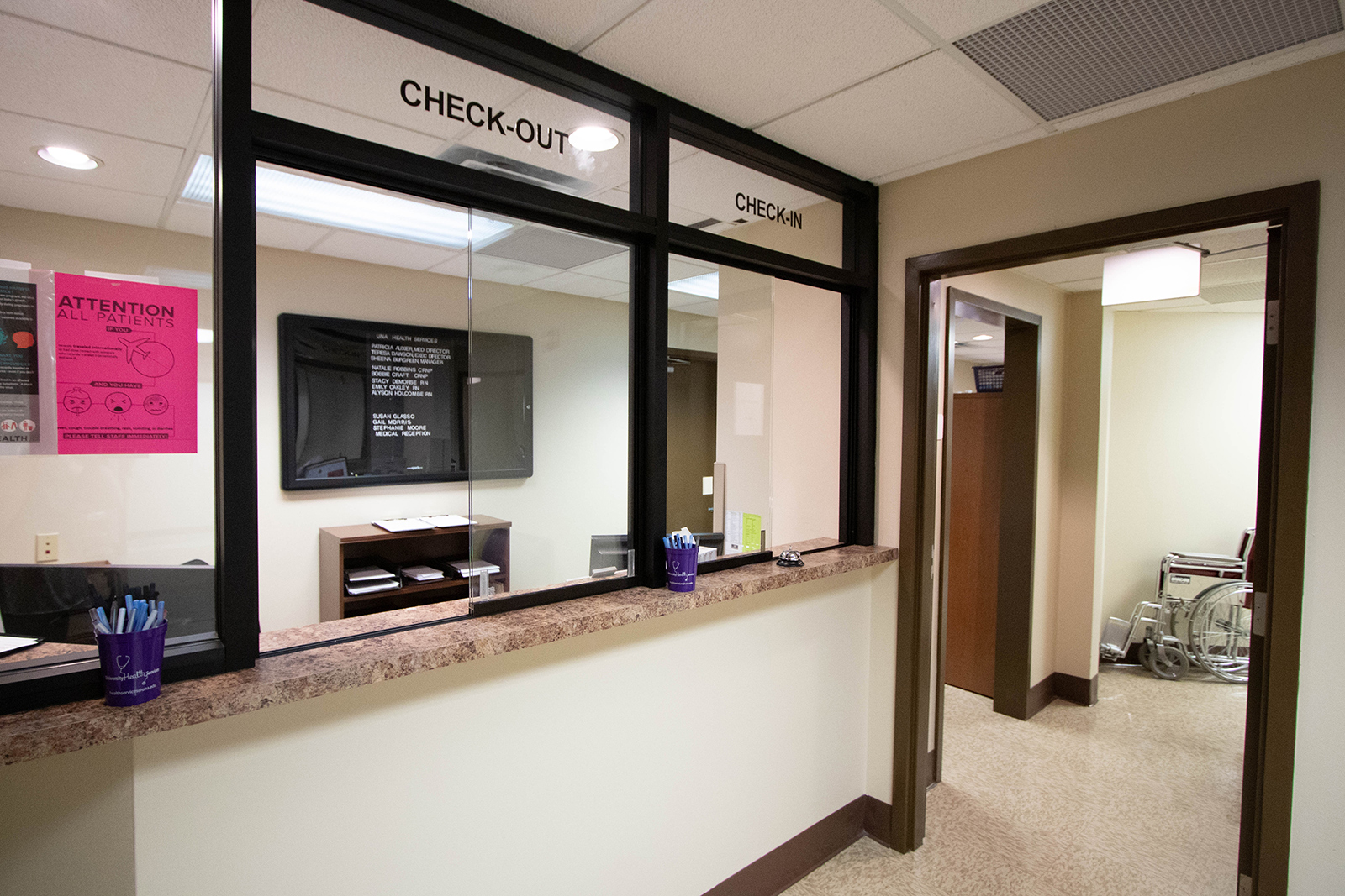 University Health Reception Area