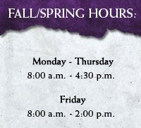 Fall/Spring Hours