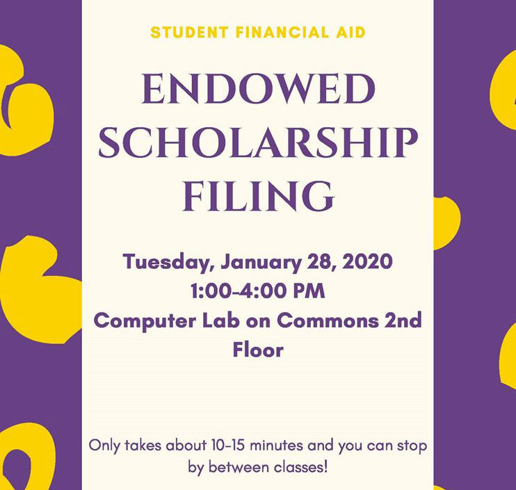 Endowed Scholarship Deadline