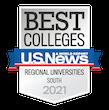 US News and World Reports Badge - #19 Regional Universities