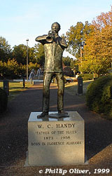 W.C. Handy memorial statue in Wilson Park, Florence, Alabama