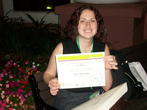 Mary wins First place at PHYSCON2012.