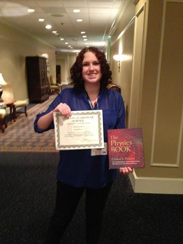 Mary McDaniel won 2nd place at the 2014 AAS Meeting