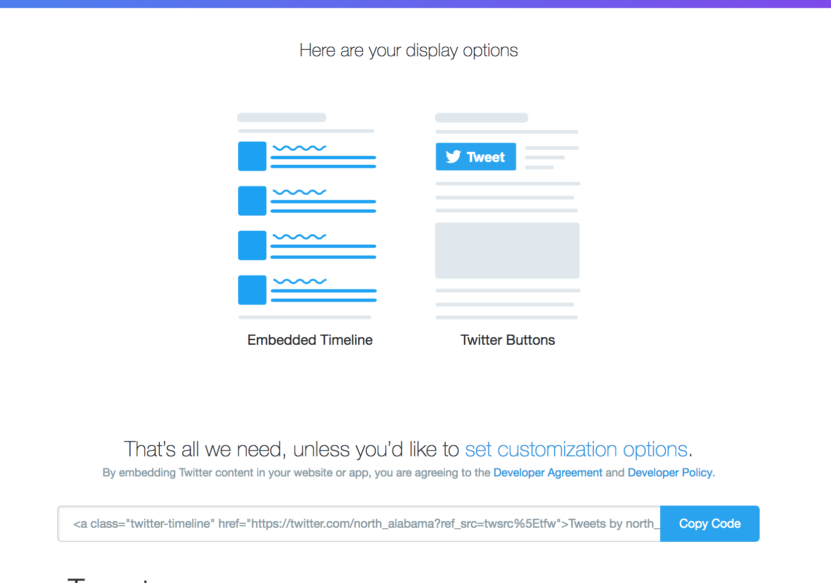 Twitter Embed Instructions | University of North Alabama